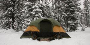 Isomatte im Winter